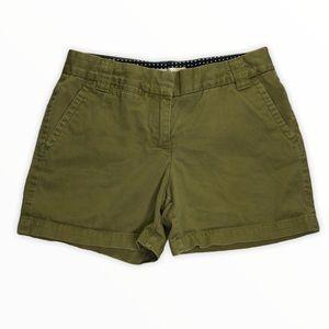 J.Crew Shorts Olive Green Chino Size 4 EUC